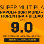 Super quota 9 per i nuovi clienti Betfair con la multipla di Europa League